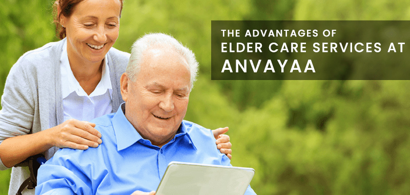 Care giver with elder - Anvayaa Elder care Services